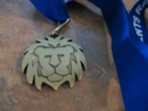 Lion medal (pic courtesy of Cat)